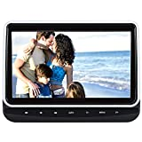 """10.1"""" Car Headrest DVD Player for Kids with Touch Button and Front Clamshell Design Support Sync Screen/AV Out & in/USB SD/Last Memory - NAVISKAUTO"""