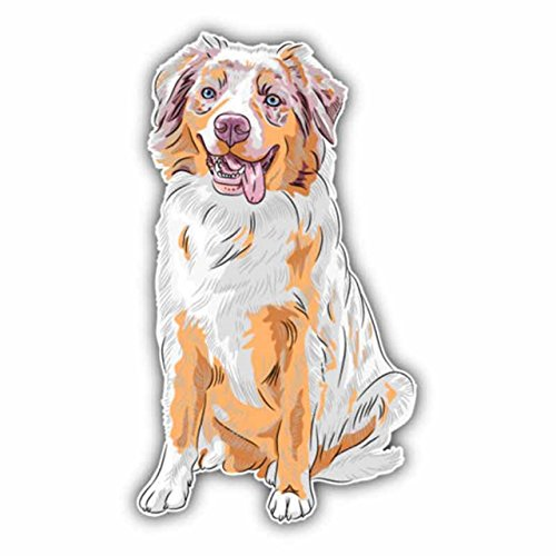 - 1 Set Cartoon Australian Shepherd Dog Car Sticker Vinyl Wall Art Stickers Decals Unblemished Popular Funny Dragon Anime Ocean Yoga Walking Dead Zombie Family Baby Mom Window Decor