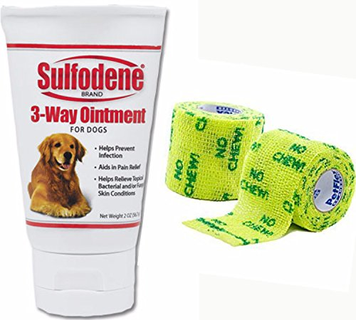 (Sulfodene 3-Way Ointment For Dogs- Plus 2 Packs PetFlex 2