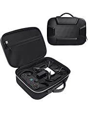 Esimen Hard Case for DJI Tello, Game Controller,Charging Cable DIY Accessories Throw and Fly Carry Bag Protective Box (Black + Silver)