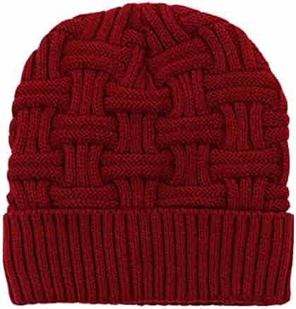 3cbe774d9e21a Summerwhisper Women s Men s Warm Fleece Knit Skully Beanie Hat Cap Unisex