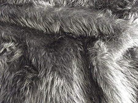Plain Fun Faux Fur Fabric Material DARK GREY  Amazon.co.uk  Kitchen ... cf03092f6
