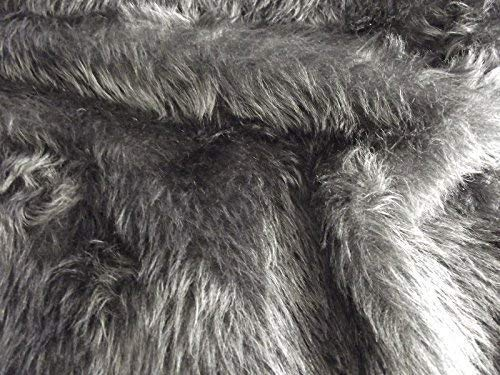 "Short Pile Black Fur 14mm Pile 60/"" 150cm"