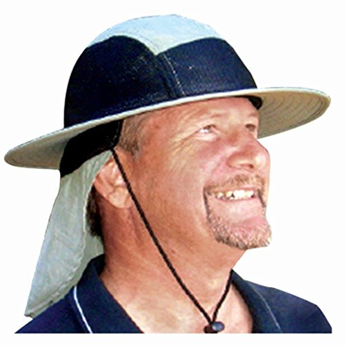 Columbia Top Hat - Blubandoo Water Activated Evaporative Cooling Crystals Sun-Activity Hatbandoo in Spruce/Black L/XL. Cool Summer Hat With Breathable Mesh And UPF 50+ Top Excellent Sun Protection. Unisex Heat Relief.