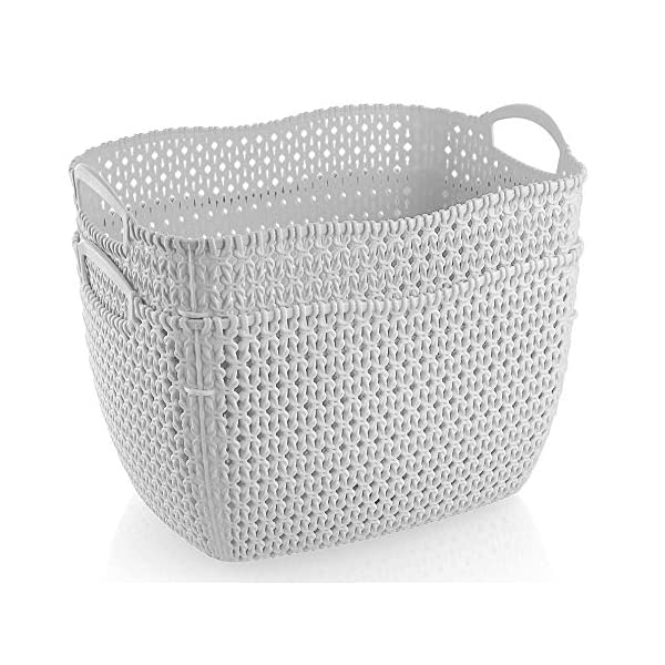 American Dream 2-Pack Woven Storage Basket Laundry, Toys, Towels, Books, Blanket Organizer Baby Nursery Container Set