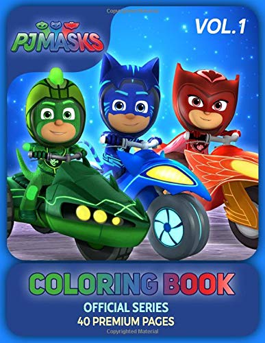 PJ Masks Coloring Book Vol1: Funny Coloring Book With 40 ...