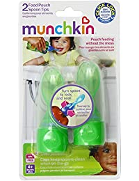 Munchkin Click LockFood Pouch Spoon Tips, Green, 4-Count BOBEBE Online Baby Store From New York to Miami and Los Angeles