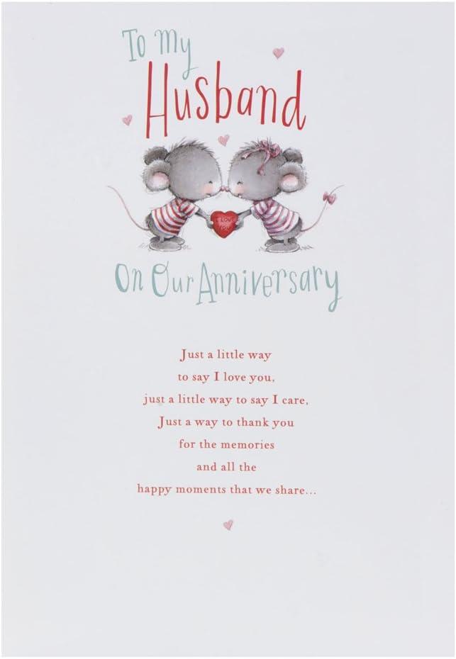 Medium Hallmark Anniversary Husband Traditional 3D Glasses Card
