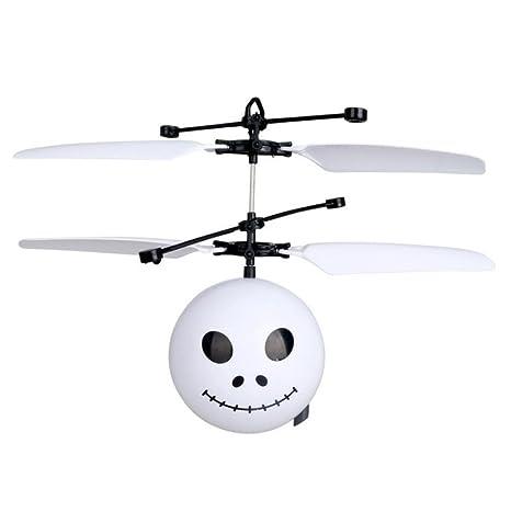 llguz Sensor de infrarrojos Emoji RC Dron de vuelo helicóptero ...