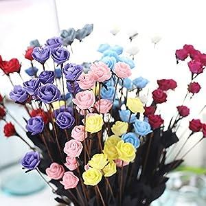 SHJNHAN Artificial Flowers, 1x Artificial PE Fake Flowers Rose Floral Wedding Bouquet Bridal Hydrangea Decor 4
