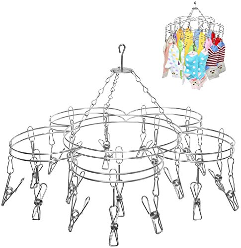 Yanglovele Laundry Clothesline Hanging Rack for Drying Cloth