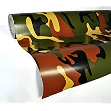 VVIVID Woodland Camouflage Vinyl Wrap Film for DIY No Mess Easy to Install Air-release Adhesive (3ft x 5ft)