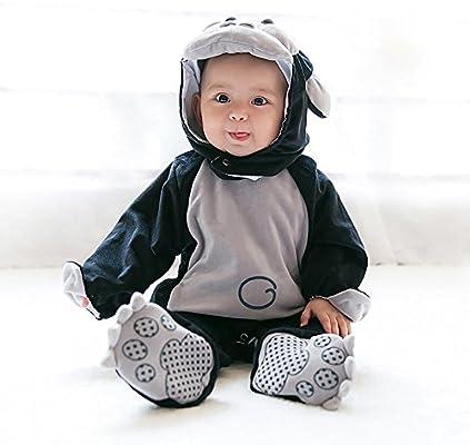 shybuy bebé disfraz de gorila disfraz de mono con capucha Pelele ...