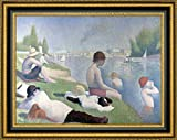 """This 30.25"""" x 37.25"""" premium giclee canvas art print of Bathers at Asnieres by Georges Seuratis meticulously created on artist grade canvas utilizing ultra-precision print technology and fade-resistant archival inks.Every detail of the artwork is r..."""