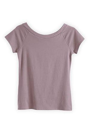b47fab797 Fair Indigo Ballet Neck Fair Trade Organic Tee at Amazon Women's Clothing  store: Fashion T Shirts