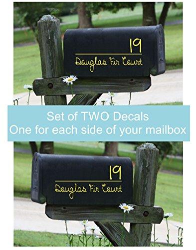 Mailbox Address Stickers Personalized Custom Decorative Vinyl Mailbox  Decals, Set of 2 for Basic Mailbox