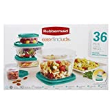 Rubbermaid Easy Find Lids 36 Piece Food Storage Containers Turquoise