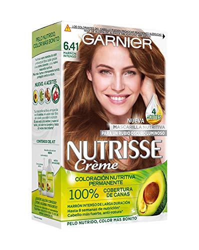 Garnier Nutrisse Creme Coloracion permanente con mascarilla nutritiva de cuatro aceites - Marron Intenso 6.41