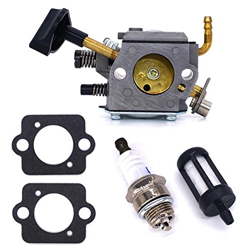 FitBest Carburetor for Stihl SR320 SR340 SR380 SR400 SR420 BR320 BR340 BR380 BR400 BR420 Backpack Blowers with Gasket+Spark Plug+Fuel ()