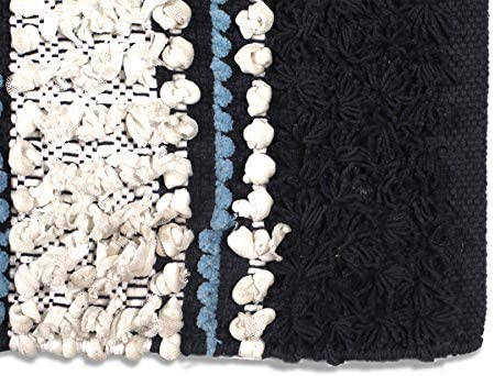 """51jRZH0iycL. AC Chenille Bath Rugs Extra Soft and Absorbent,Bath Rugs for Tub Bathroom Shower Mat,Machine-Washable Durable Thick Area Rugs 20"""" x 32"""" Navy,Unique for Bedroom, Living Room, Kitchen,Nursery and More    Chenille Bath Rugs Extra Soft and Absorbent,Bath Rugs for Tub Bathroom Shower Mat,Machine-Washable Durable Thick Area Rugs 20"""" x 32"""" Navy,Unique For Bedroom, Living Room, Kitchen,Nursery and more Each chenille bath mat rug measures 20 inch by 32 inchSuper Soft Chenille Rugs, Bath Rugs Extra Soft and Absorbent,Bath Rugs for Tub Bathroom Shower Mat,Machine-Washable Durable Thick Area Rugs 20"""" x 32"""",Farm House Rugs, Kitchen Rugs, Rugs For Living,Rugs For Bed Room.The anti-skid backing is practically slip resistance on the floor surface to keep you more safeSuperior high quality hand tufted construction, made from 100% pure cotton; highly absorbentEasy Care machine washable, always follow care label instructions for best results"""