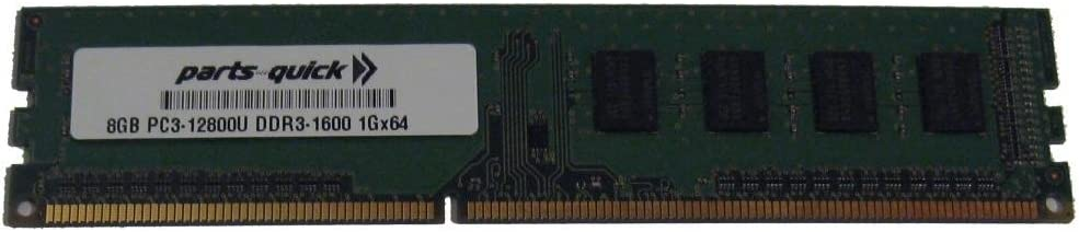 parts-quick 8Gb Ddr3 Memory For Msi Motherboard Fm2-A55M-E33 Pc3-12800 1600Mhz Non-Ecc Desktop Dimm Ram Upgrade (Parts-Quick Brand)