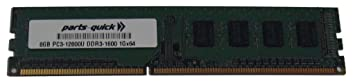 PARTS-QUICK Brand 8GB DDR3 Memory for Biostar A58ML Motherboard PC3-12800 1600MHz Non-ECC Desktop DIMM RAM Upgrade