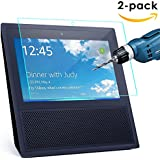 CAVN 2 Pcs Echo Show Screen Protector HD Clear 9H Hardness Tempered Glass Screen Protector for Echo Show 2017 With Scratch-resistant,Bubble-free,Easy Installation