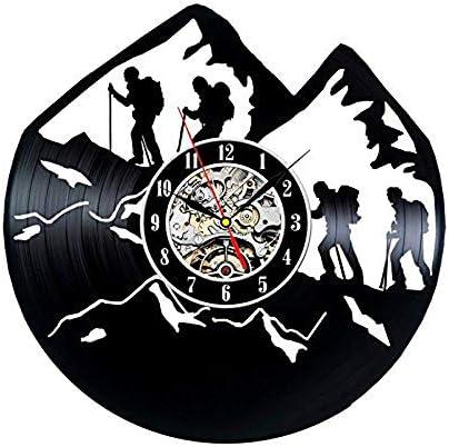 JXWH Reloj de Pared de Disco de Vinilo diseño Moderno Tema de ...