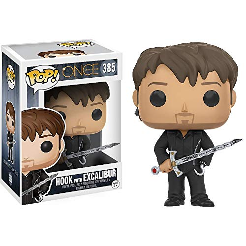 Funko Hook w/ Excalibur: Once Upon a Time x POP! TV Vinyl Figure & 1 POP! Compatible PET Plastic Graphical Protector Bundle [#385 / 10849 - B]