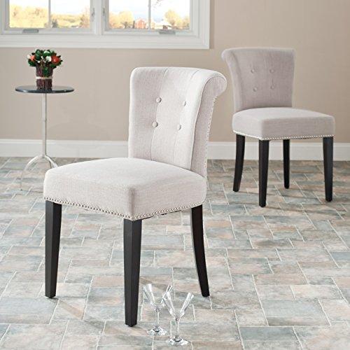 Safavieh Mercer Collection Matthew Beige Linen Dining Chair, Set of 2