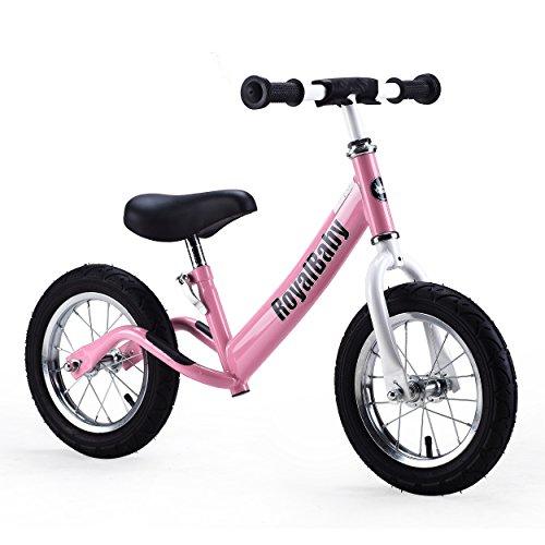Royalbaby 12 inch Kid's Bike, Boy's Bike, Girl's Bike Balance Bike, Running Bike, Push Bike, No Pedal Bike, Pink