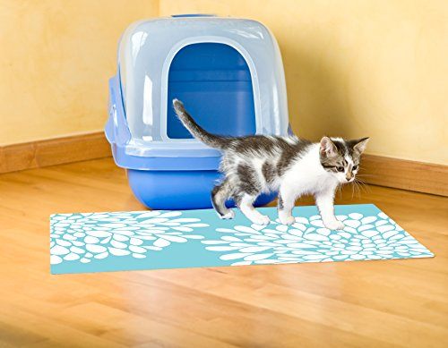 Drymate Cat Litter Mat Premium Non-Slip -Traps Litter from Box and Paws- Urine Proof Backing Protects Floors, Soft Material Catches Litter From Kitty Paws, Easy to Clean (20