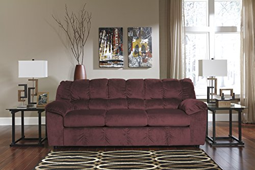 Julson Contemporary Red Padded Microfiber Sofa