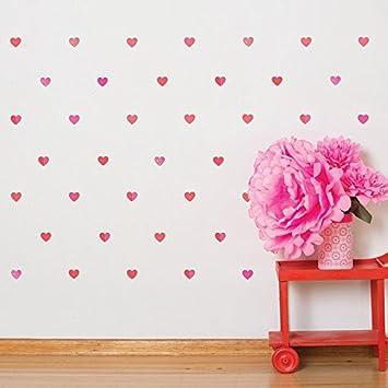 Amazoncom Petit Collage Fabric Wall Decal Petit Pink Hearts