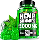 JOLLYGREEN Hemp Gummies - 15000MG in 90 PCS - Effective Anxiety & Stress Relief - Made in USA - Natural Immune Gummies - Tasty & Relaxing - Rich in Omega 3-6-9 - Great Mood Boost & Insomnia Relief Larger Image