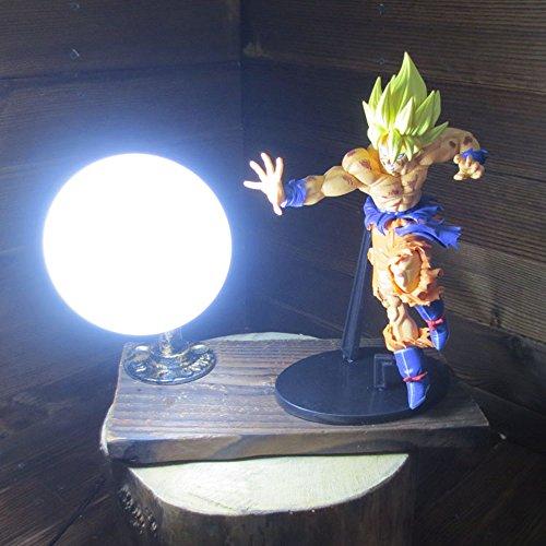 Dragon Ball Son Goku Red Genki Dama Spirit Bomb LED Table Lamp by Aurookeb
