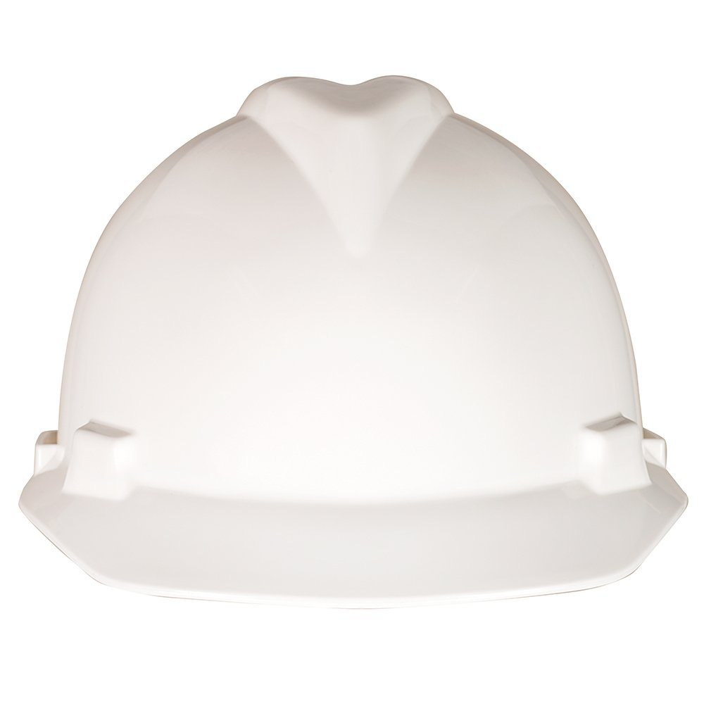 MSA 477482 V-Gard Slotted Protective Cap with Fas-Trac Suspension, Large, White