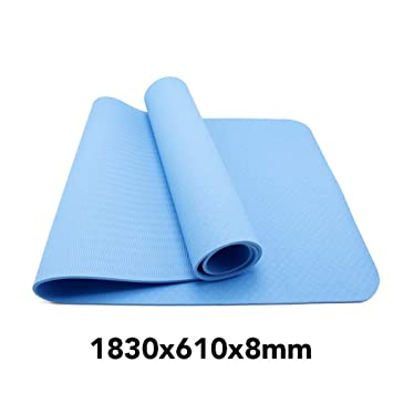 HYTGFR 1830 * 610 * 6 Estera de Yoga Color de una Sola Cara ...