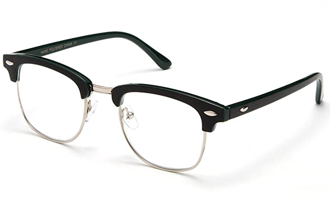 8ee33c0555129 Newbee Fashion -  quot Sierra Alma quot  Thin Frame Clubmaster Fashion  Reading Glasses