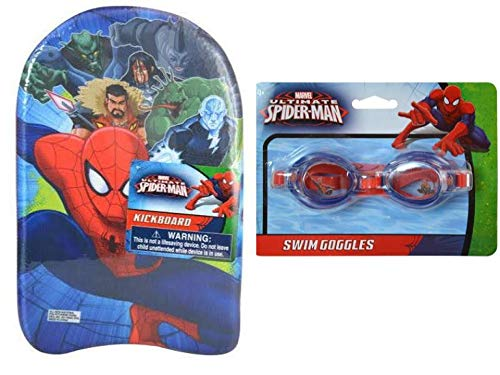 Spider-Man Foam Kickboard with Spider-Man Swimming Goggles