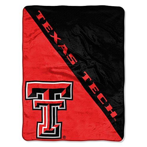 The Northwest Company Officially Licensed NCAA Texas Tech Red Raiders Halftone Micro Raschel Throw Blanket, 46