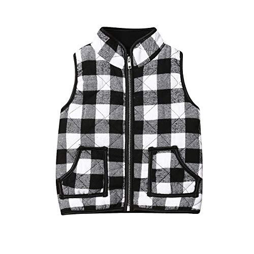 ZAXARRA Toddler Baby Girls Vest Outwear Jacket Sleeveless Waistcoat Warm Winter Coats (Black, 2-3T)