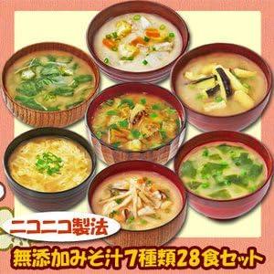 フリーズドライ ニコニコ 無添加 みそ汁 7種類28食セット (即席 味噌汁) (コスモス 食品)