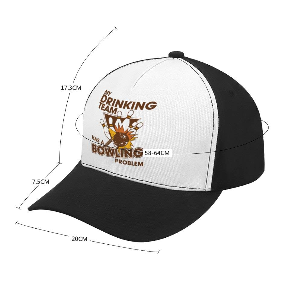 My Drinking Team Has A Bowling ProblemTop Level Baseball Caps Men Women Classic Adjustable Plain Hats Dad Hats
