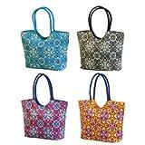 Calypso Beach Bag with Luxury Webbing Handle (Set of 4)