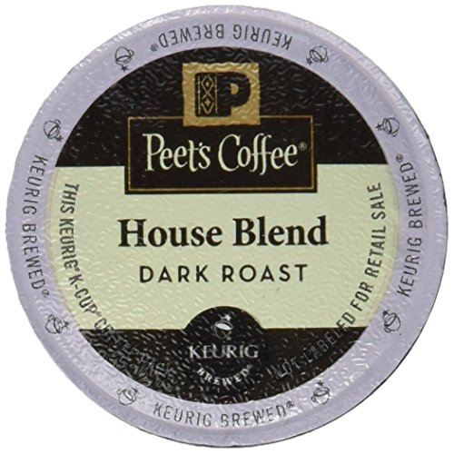Peets Coffee K-Cup Pack House Blend, 10 Count (Pack of 6)