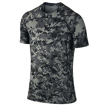 Men's Nike Pro Hypercool Top Size Small TUMBLED GREY/BLACK/BLACK