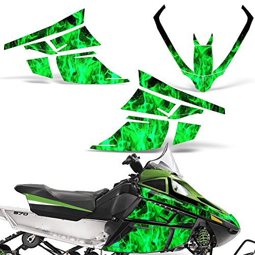 Arctic Cat F Series Z1 Decal Graphic Kit Sled Snowmobile Accessories Sticker Z 1 FLAMES GREEN