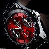 Amyove Winner Mens Sport Red Black Leather Date Automatic Mechanical Army Wrist Watch by Amyove watch