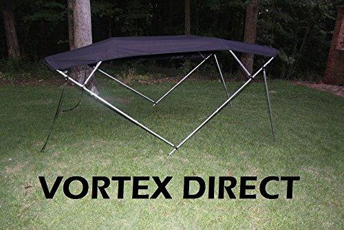 BLACK Vortex 4 Bow Bimini Top 12' Long, 85-90